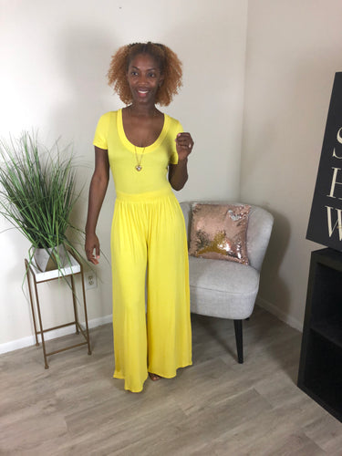 'Vivian' Jumpsuit Yellow