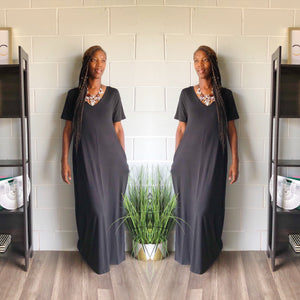 Relax N Chill Maxi Dress (Black)