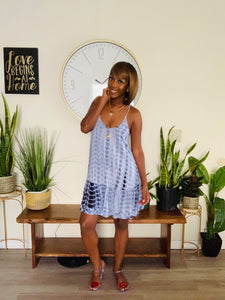 Reva Tie-Dye Dress - Blue