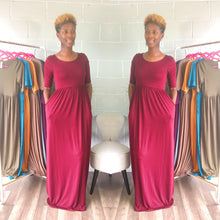 'Relaxed N' Chilled Maxi Dress (Burgundy) - Request Restock