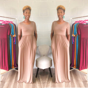 'Relaxed N' Chilled Maxi Dress (Mocha)