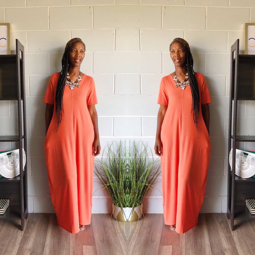 Relax N Chill Maxi Dress (Coral)