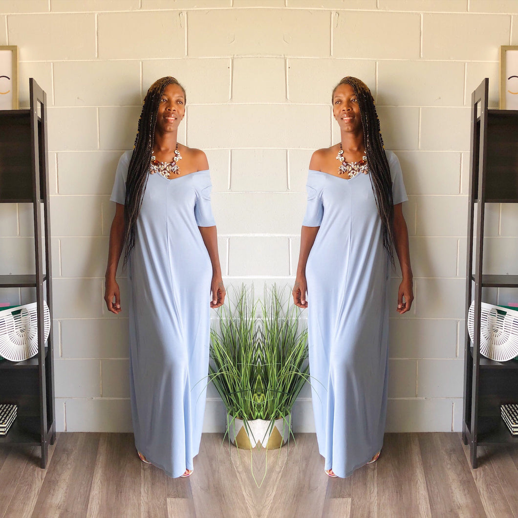 Relax N Chill Maxi Dress (Ash Blue)
