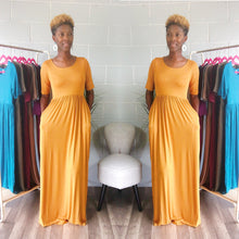 'Relaxed N' Chilled Maxi Dress (Mustard)