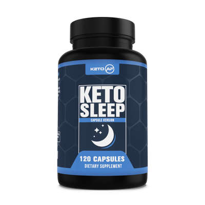 KetoAF Default Title Keto Sleep - 5-HTP, MCT, Zinc & Magnesium. Ketogenic Recovery and Sleep Enhancement Formula, 120 Capsules (30 Servings)