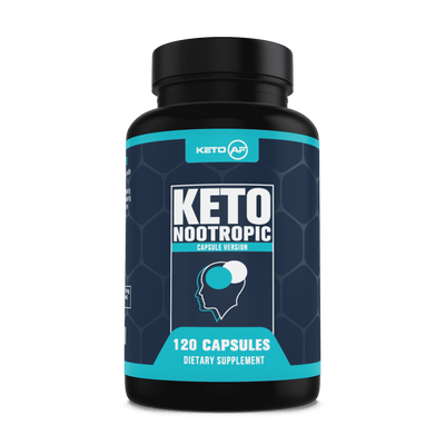 KetoAF Ketogenic Nootropic - Brain Support Supplement - Energy, Memory and Focus - MCT, Coconut Oil, Caffeine, Rhodiola Rosea and More
