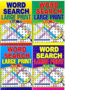 A4  Large Print Wordsearch 33-36  4T
