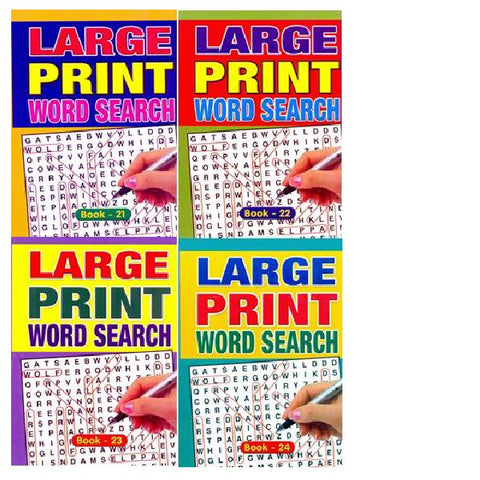 A5 Large Print Wordsearch Book 21-24