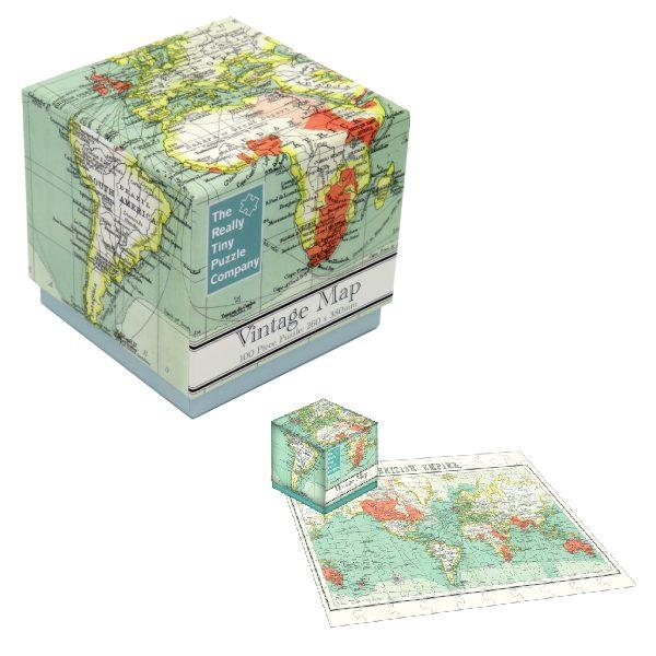 100 PC Cube Jigsaw Vintage Map
