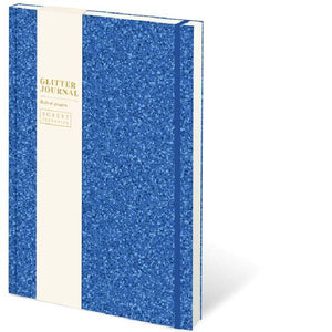 A5 Cased Gliter Notebook Blue