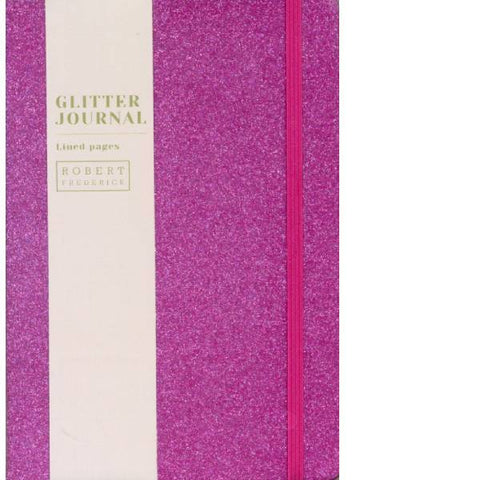 A5 Cased Glitter Notebook Bright Pink