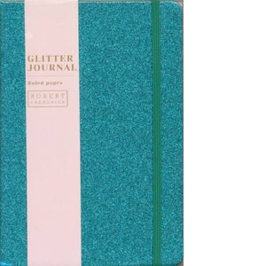 A5 Cased Glitter Notebook Turquoise