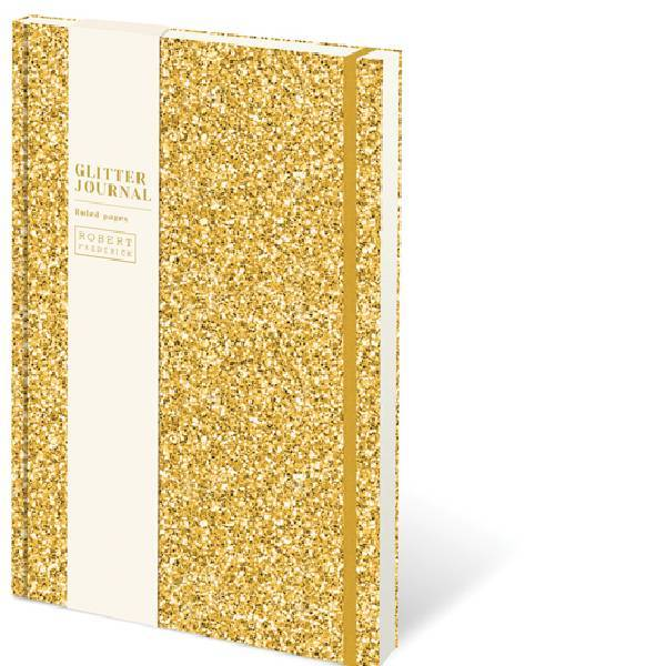 A5 Cased Glitter Notebook Gold
