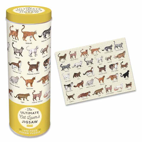 1000 PC Cat Lovers Jigsaw Tin