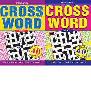 A4 Large Print Crossword 2T Book 1-2