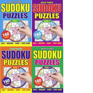 A5 Sudoku Puzzle 4T Book 1-4