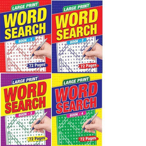 A4 Large Print Wordsearch 4T Books 1-4