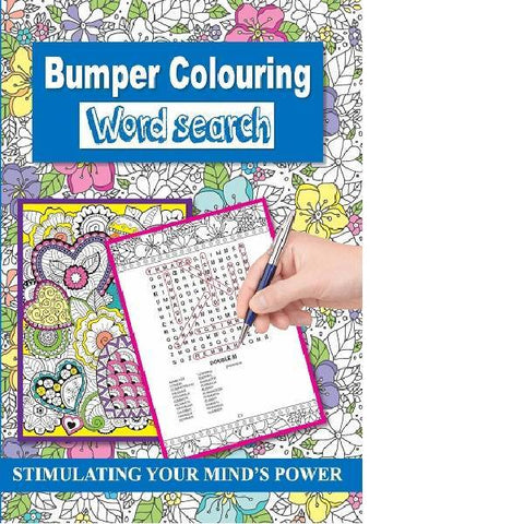 Bumper Colouring Wordsearch Blue