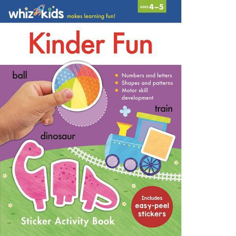Whiz Kids Kinder Fun Sticker Activity