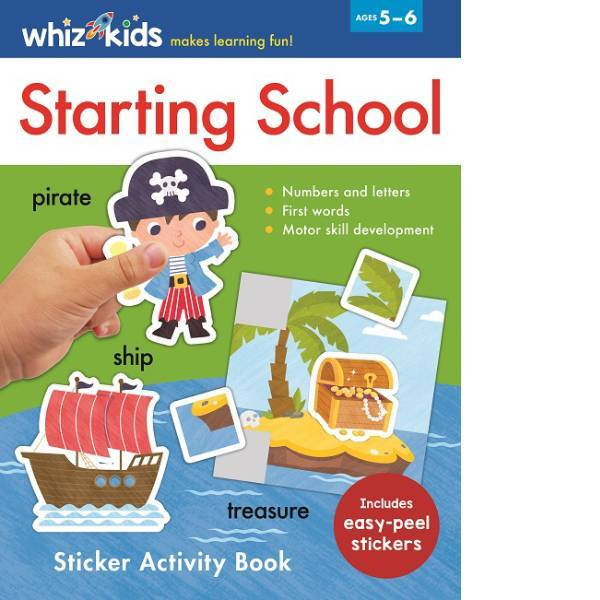 Whiz Kid Starting School Sticker Activity
