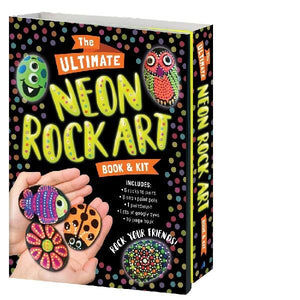 Ultimate Neon Rock Painting Book & Kit