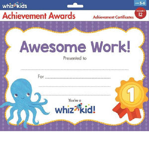 Whiz Kids Awesome Work Achievement Award