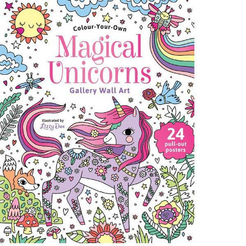 Colour Your Own Magical Unicorn Wall Art