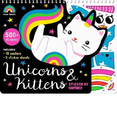 Unicorns & Kittens	 Sticker By Numbers