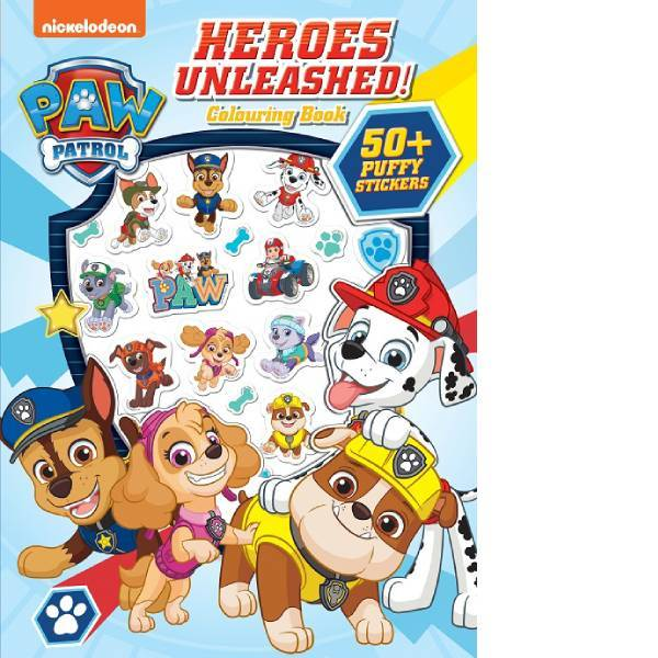 Paw Patrol  Puffy Sticker  Colouring Book