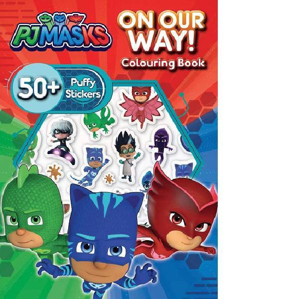 PJ Mask  Puffy Sticker  Colouring Book
