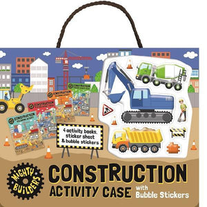 Construction Bubble Sticker Activity Case