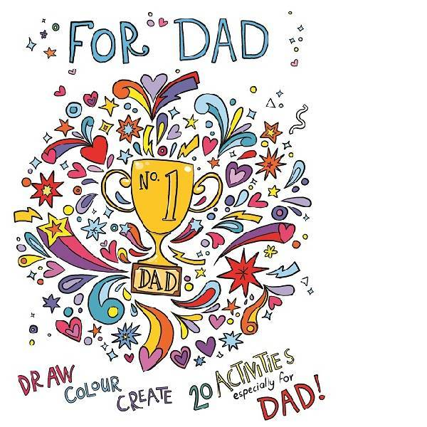 For DAD Colouring Book