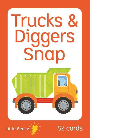 Little Genius Trucks Diggers Snap Cards