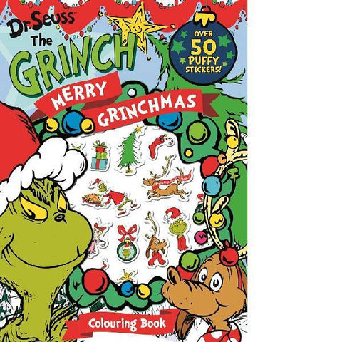 Dr Seuss The Grinch  Merry Christmas Colouring Puffy Sticker Book
