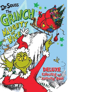 Dr Seuss The Grinch Naughty or Nice Deluxe Colouring
