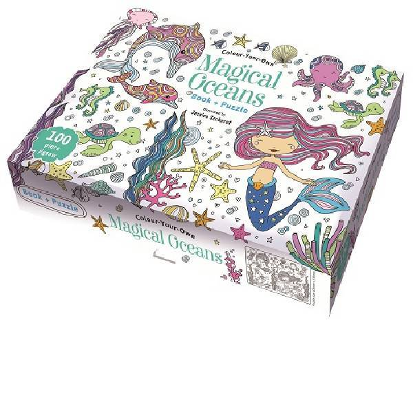 Colour Your Own Book &  Puzzle Magical Oceans Boxset