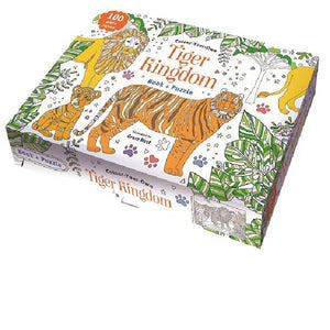 Colour Your Own Book & Puzzle Tiger Kingdom Boxset
