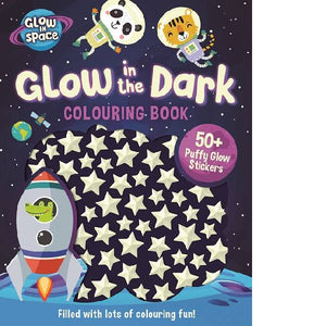 Glow in Space Colouring Puffy Stickers