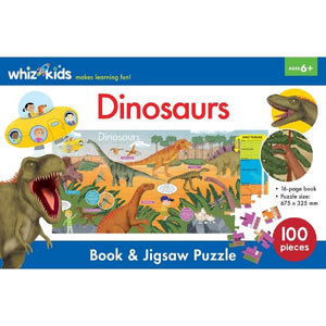 Whiz Kids Book and Jigsaw Dinosaurs Boxset