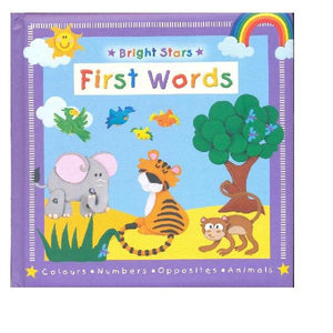 Bright Stars First Words Board Bk