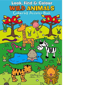 Look Find  & Colour Wild Animals