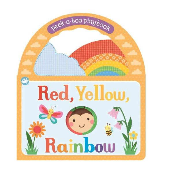 Little Me Red Yellow Rainbow Peek a Boo Board