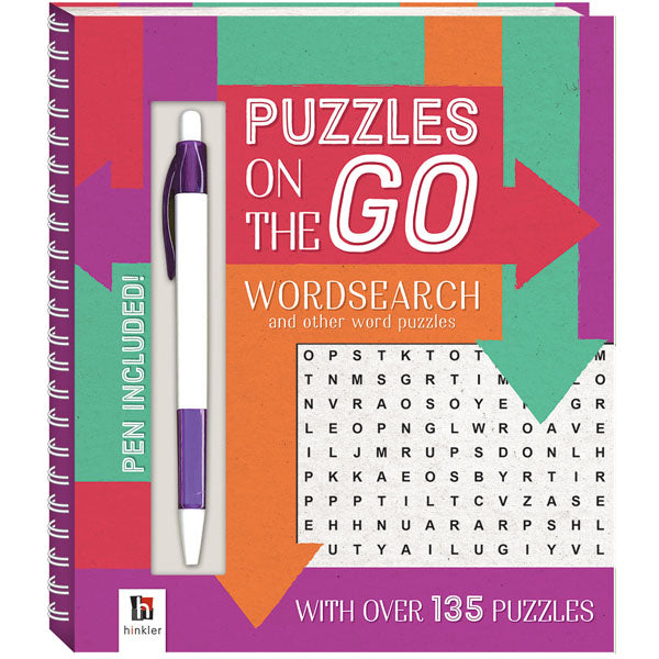 Puzzles on the go Wordsearch Bk1