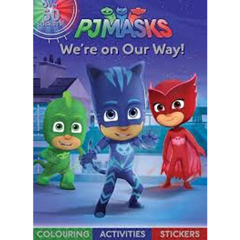 PJ Masks On Our Way Colouring Sticker Acitvities