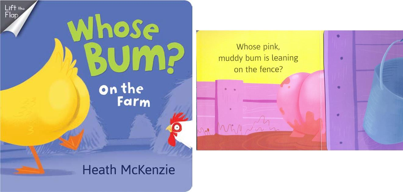 Whose Bum On the Farm Board Book