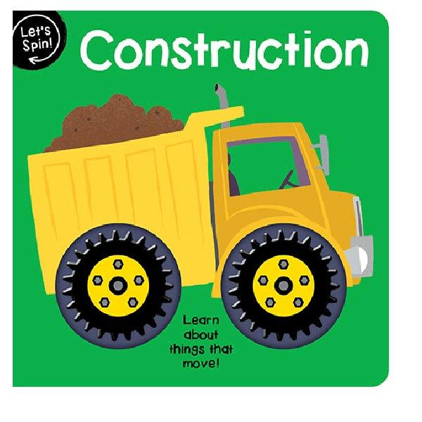 Lets Spin Construction Board Book