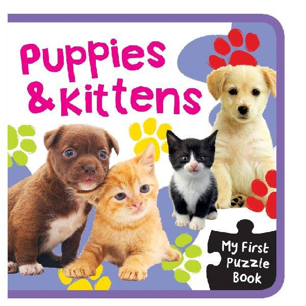 My First EVA Puzzle Puppies & Kittens Bk