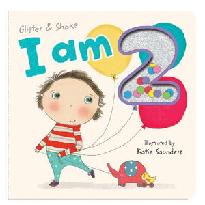 I am 2 Glitter & Shake Board Book