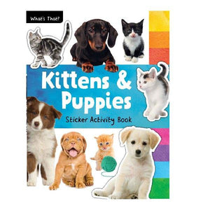 What's That Puppies &  Kittens Photographic Sticker