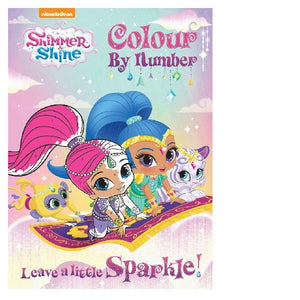 Shimmer and Shine Leave a Little Sparkle Colour By Numbers